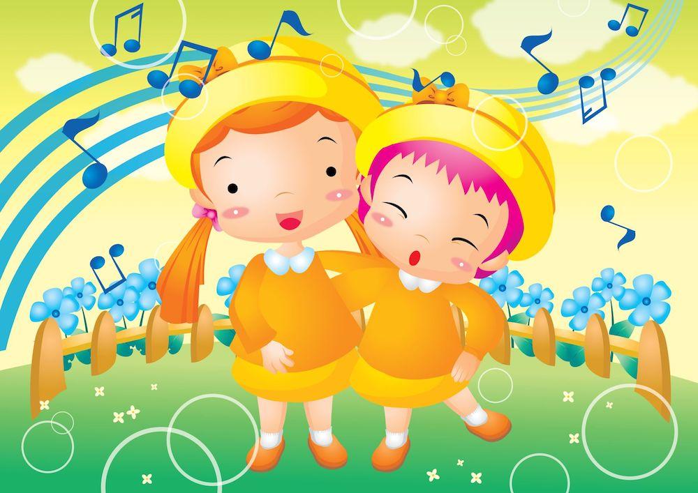 çocuk şarkıları, şarkı söylemek ve ve dil gelişimi